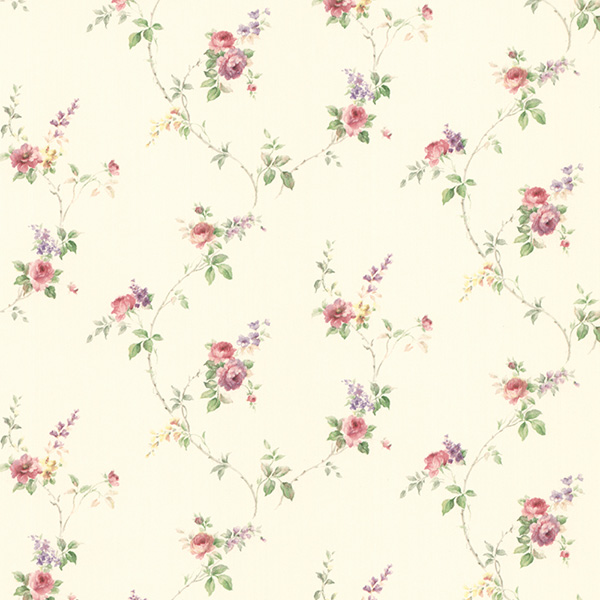 Norwall PR33808 Floral Prints 2 Wallpaper