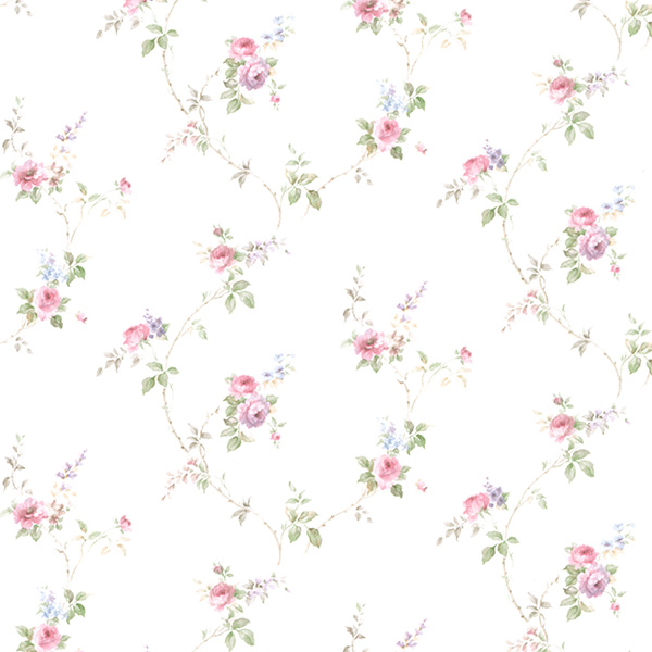 Norwall PR33811 Floral Prints 2 Wallpaper