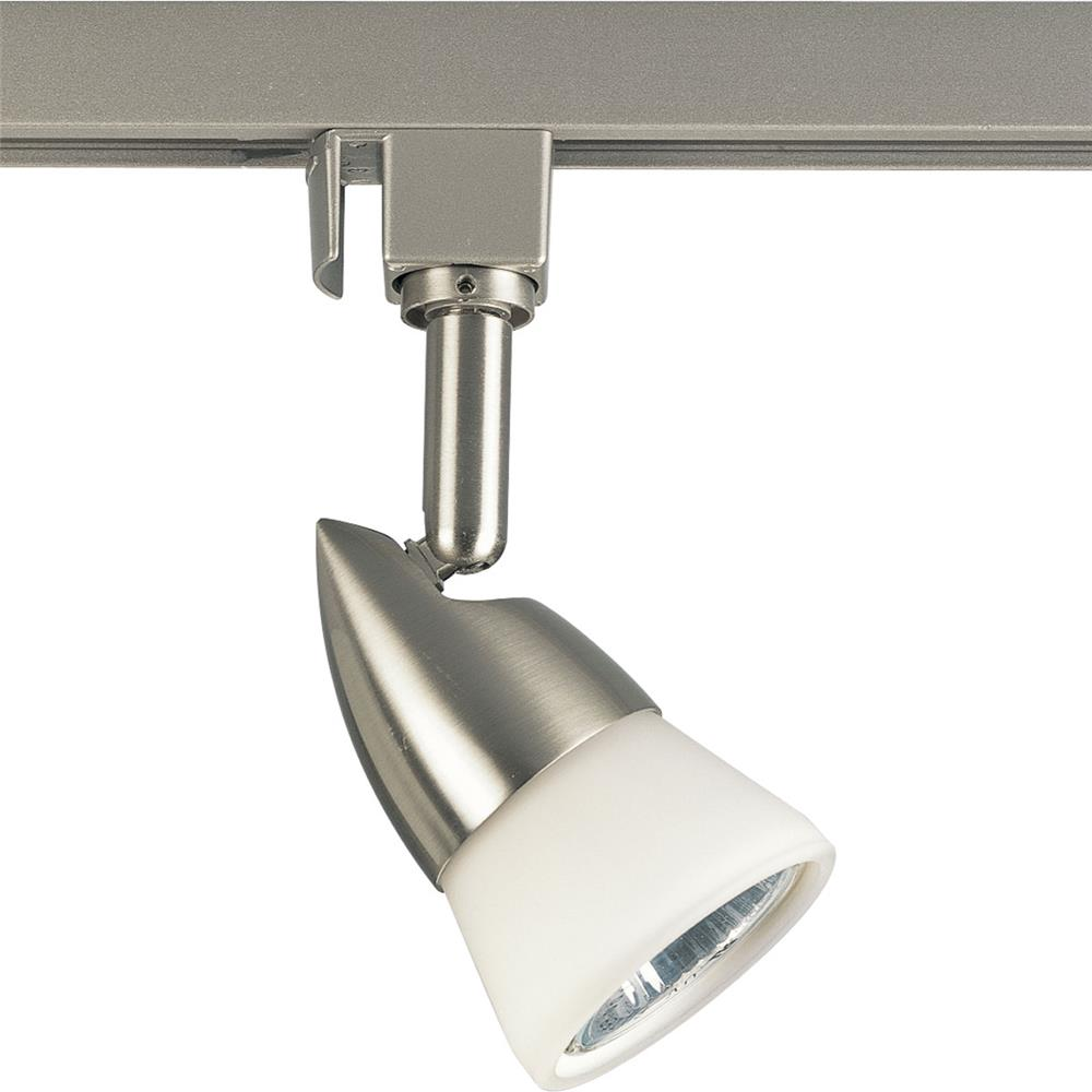 Progress Lighting P6111-09W MR-16 line voltage 1-Lt. Track Head in Brushed Nickel