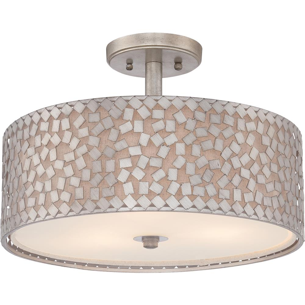 Quoizel Lighting CKCF1717OS Confetti Semi-Flush Mount in Old Silver