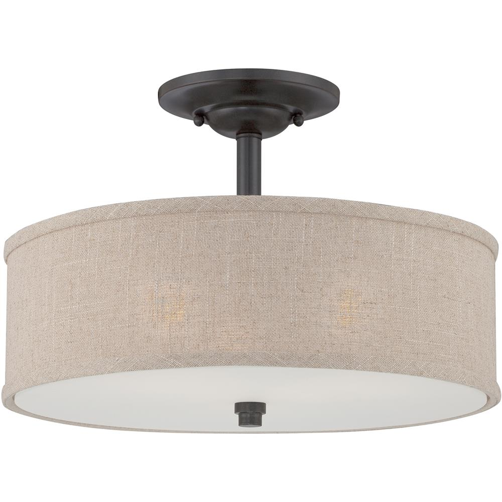 Quoizel Lighting CRA1717MC Cloverdale Semi-Flush Mount in Mottled Cocoa