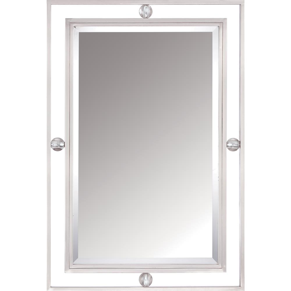 Quoizel Lighting DW43222BN Downtown Mirror in Brushed Nickel