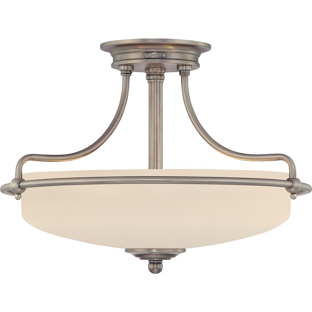 Quoizel Lighting GF1717AN Griffin Semi-Flush Mount in Antique Nickel