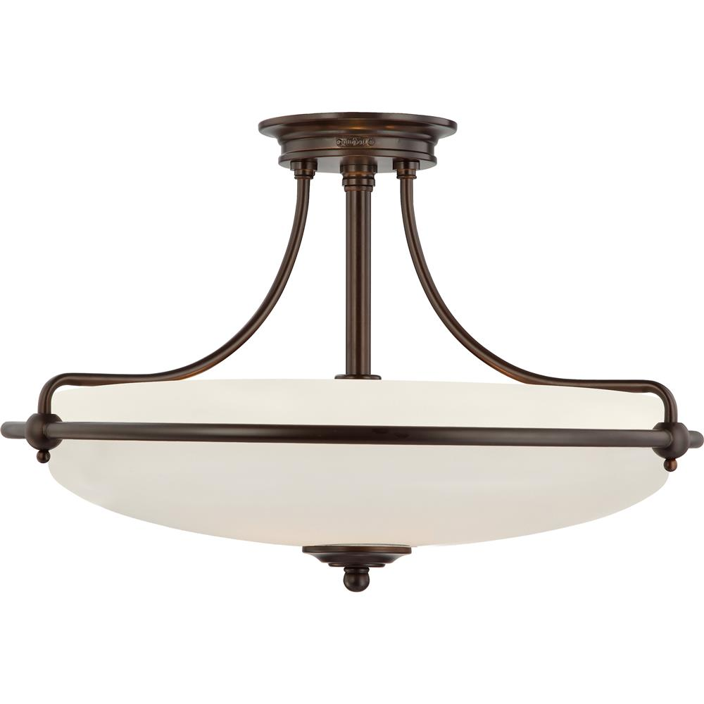 Quoizel Lighting GF1721PN Griffin Semi-Flush Mount in Palladian Bronze