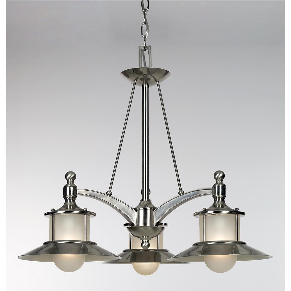 Quoizel Lighting NA5103BN New England Chandelier in Brushed Nickel