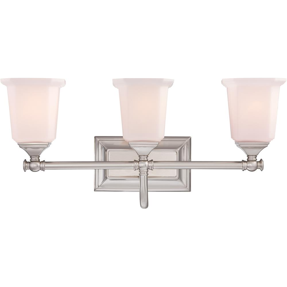 Quoizel Lighting NL8603BN Nicholas Bath Fixture in Brushed Nickel