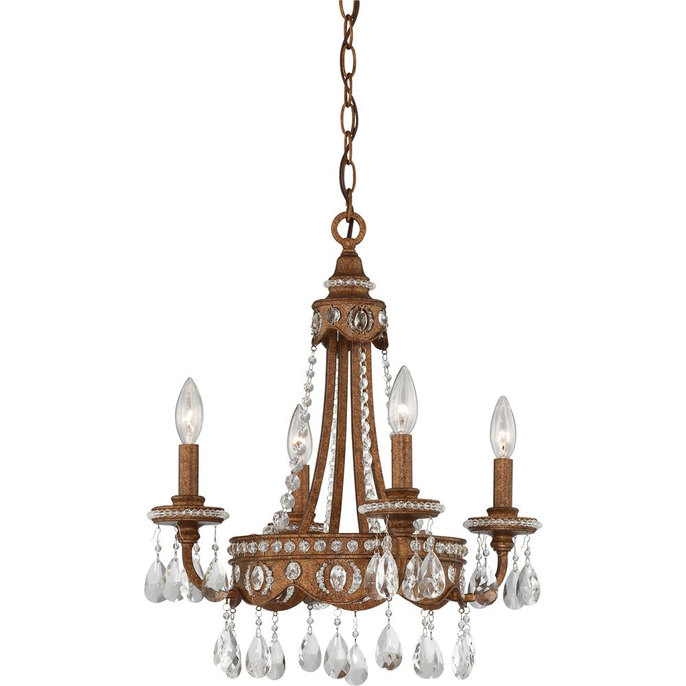 Quoizel Lighting QMC404BO Quoizel Mini Chandelier Chandelier in Bolivian Bronze