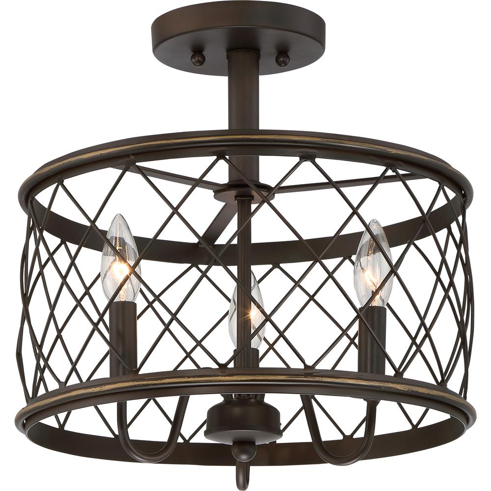Quoizel Lighting RDY1714PN Semi flush 3-lgt palladian bronze