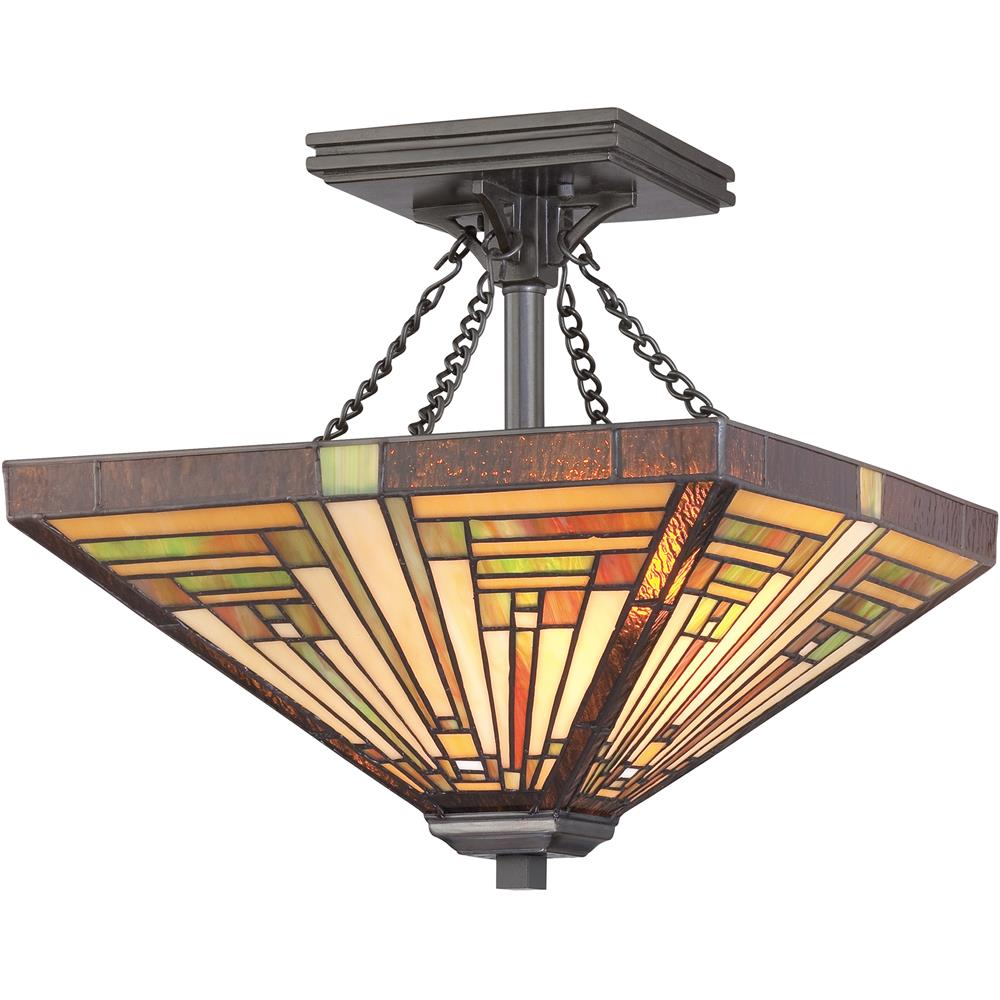 Quoizel Lighting TF885SVB Stephen Semi-Flush Mount in Vintage Bronze