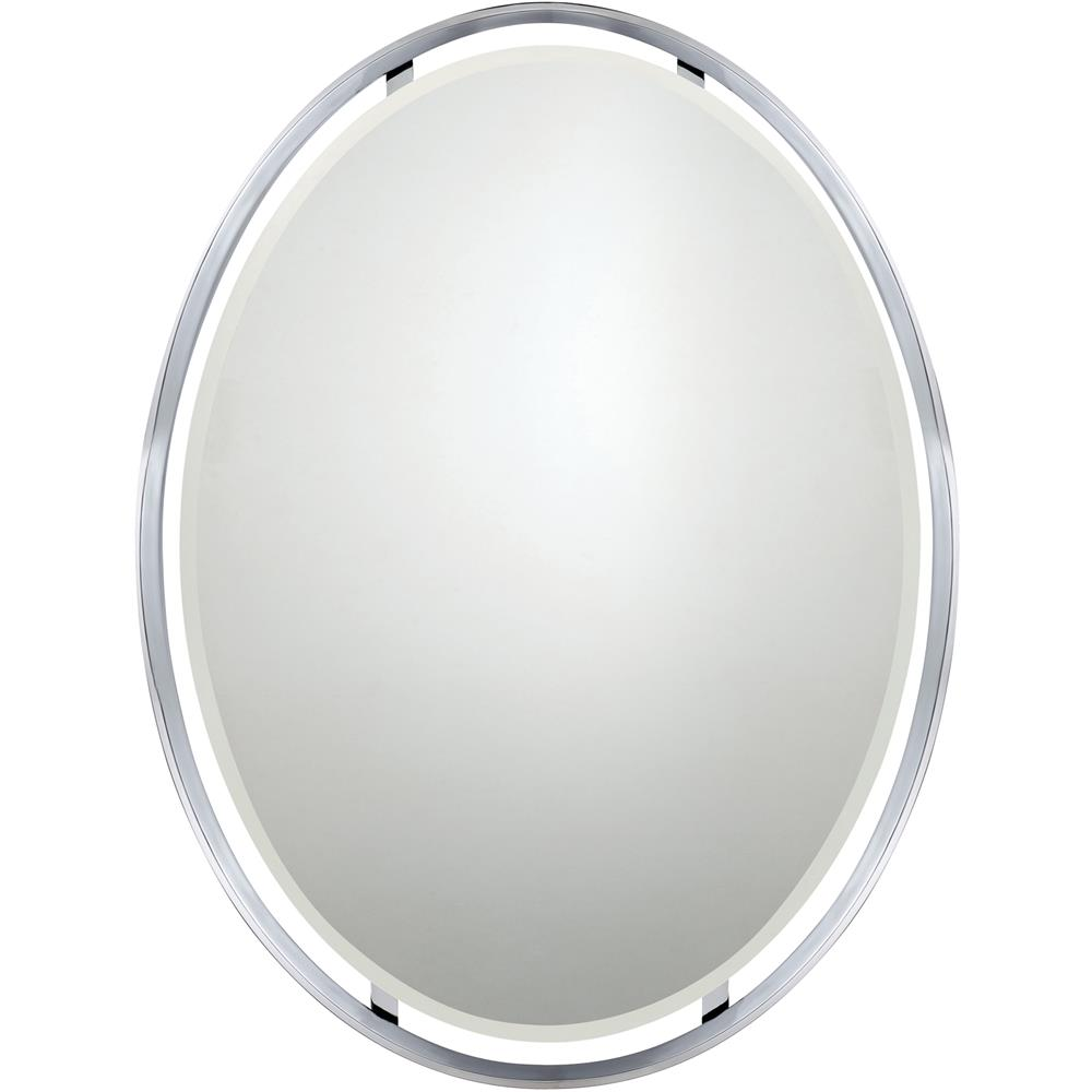 Quoizel Lighting UPRZ43426C Uptown Ritz Mirror in Polished Chrome