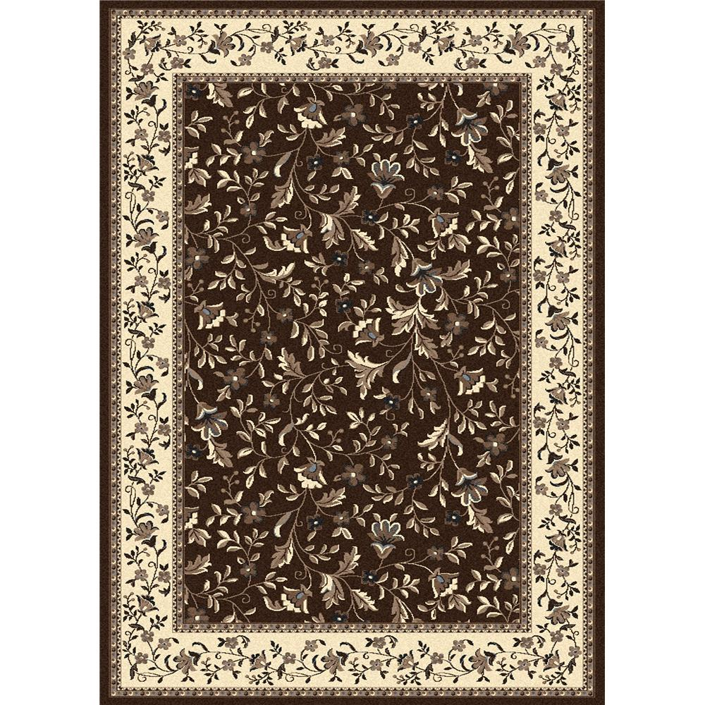 Radici USA 1876/0044/BROWN Alba Traditional Runner Rug in Brown - 2
