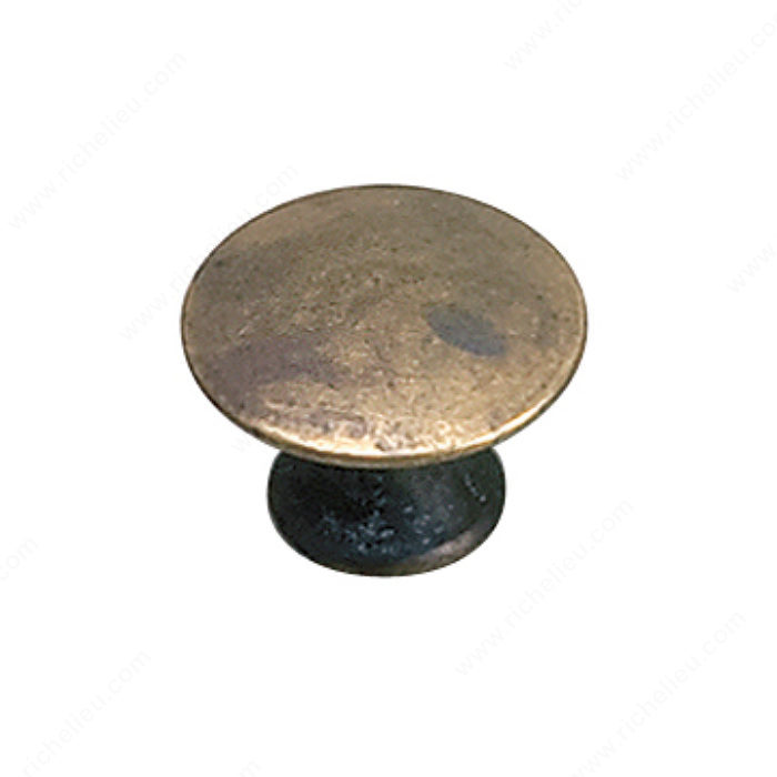 Richelieu Hardware 2445920163 Povera Collection Solid Brass Knob - 2445 in Oxidized Brass