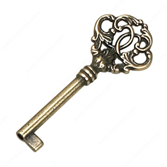 Richelieu Hardware 3372442BB Key in Burnished Brass