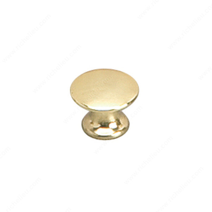 Richelieu Hardware 2445913130 Povera Collection Solid Brass Knob - 2445 in Brass
