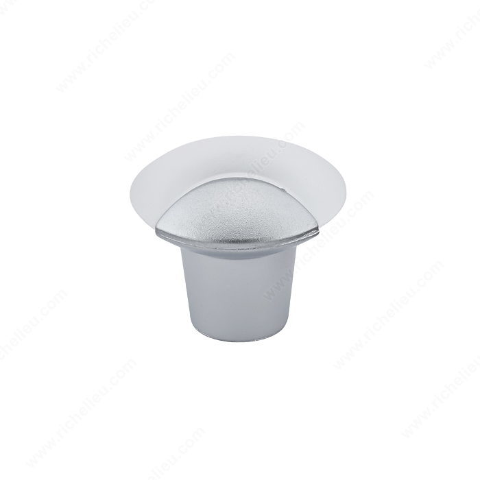 Richelieu Hardware BP83312 Contemporary Duroplus Knob - 833 in Frosted Clear