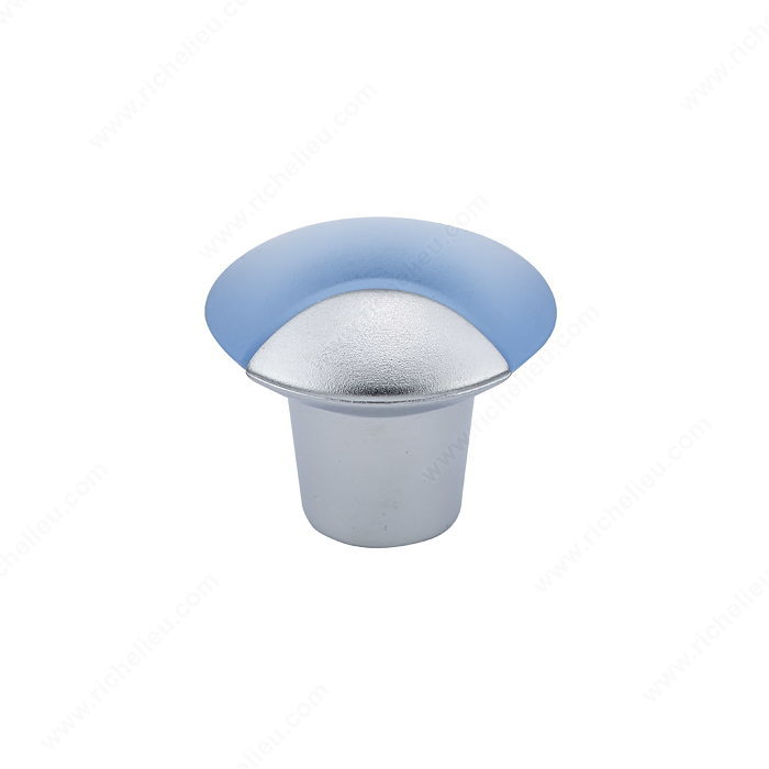 Richelieu Hardware BP833749 Contemporary Duroplus Knob - 833 in Frosted Blue