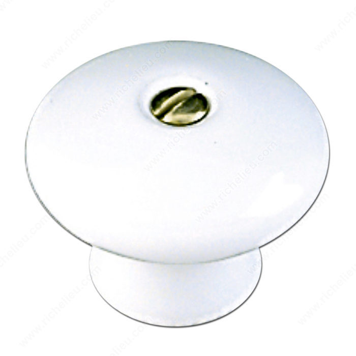 Richelieu Hardware BP601030 Eclectic Ceramic Knob - 6004 in White