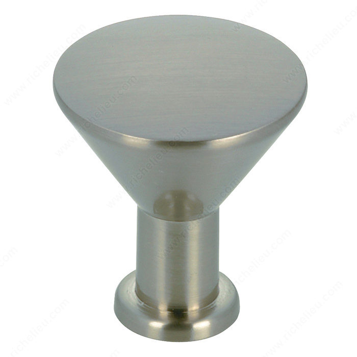 Richelieu Hardware BP842195 Contemporary Metal Knob - 842 in Brushed Nickel