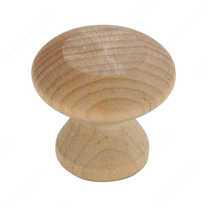 Richelieu Hardware BP118150 Eclectic Maple Wood Knob - 118 in Unfinished Maple