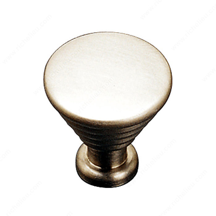 Richelieu Hardware 14725185 Contemporary Solid Brass Knob 25MM Satin Nickel Finish