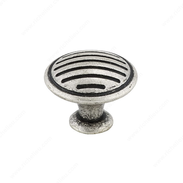 Richelieu Hardware BP16930139 Art Deco Collection Metal Knob - 1693 in Old Silver