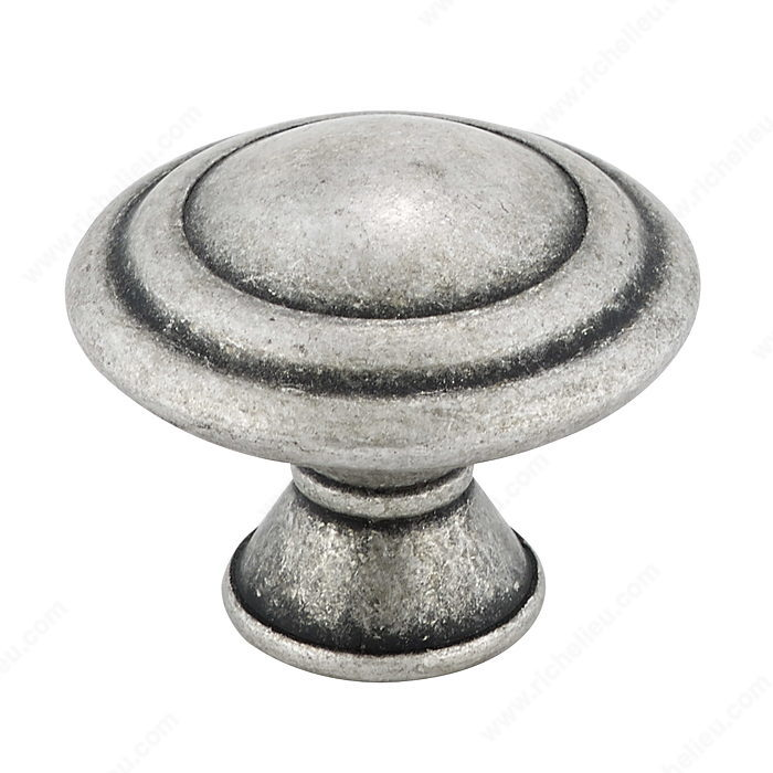 Richelieu Hardware BP20630139 Art Deco Collection Metal Knob - 2063 in Old Silver
