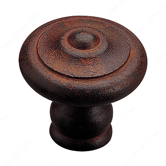 Richelieu Hardware 260720800 Traditional Forged Iron Knob - 260 in Rust