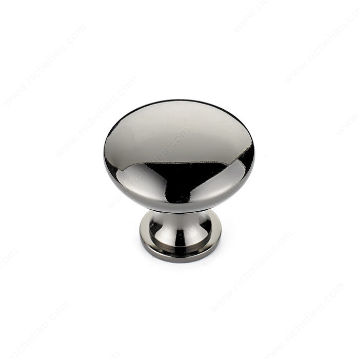 Richelieu Hardware BP904191 Contemporary Metal Knob - 9041 in Black Nickel