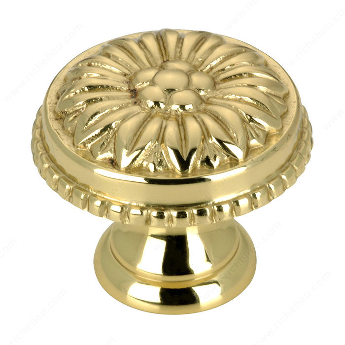Richelieu Hardware BP04325130 Louis XV Collection Brass Knob - 043 in Brass