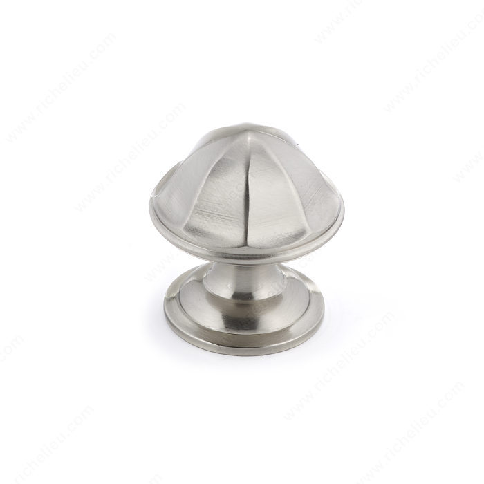 Richelieu Hardware BP50128195 Contemporary Brass Knob - 501 in Brushed Nickel