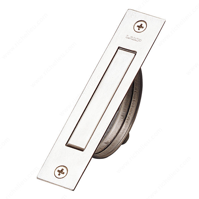 Richelieu Hardware 75098170 Contemporary Stainless Steel Recessed Rectangular Pull 90MM Stainless Steel Finish