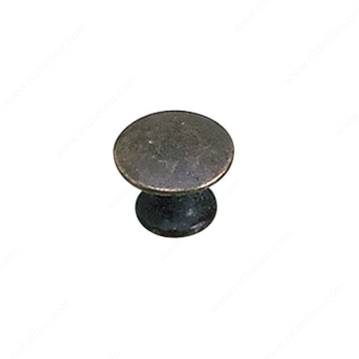 Richelieu Hardware 2445913163 Povera Collection Solid Brass Knob - 2445 in Oxidized Brass