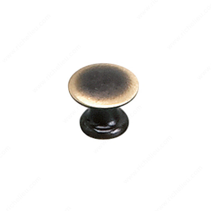 Richelieu Hardware 2445913164 Povera Collection Solid Brass Knob - 2445 in Satin Bronze