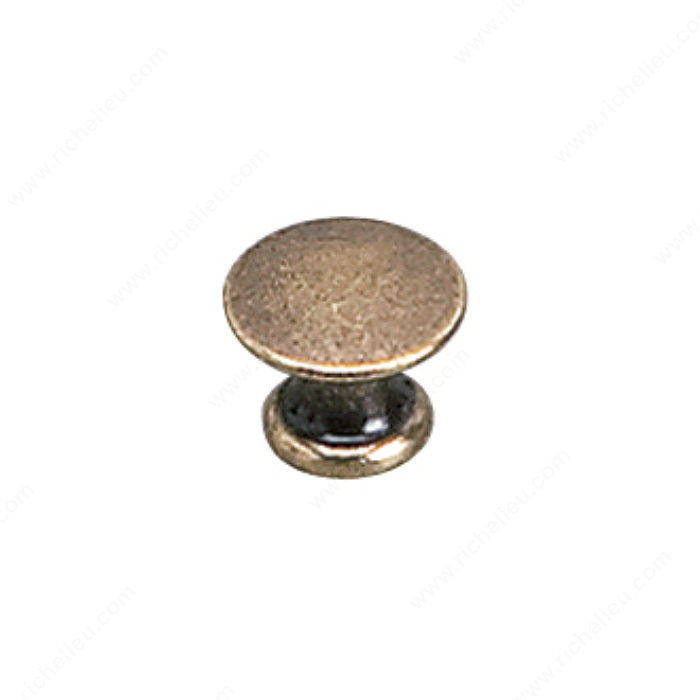 Richelieu Hardware 2445913BB Povera Collection Solid Brass Knob - 2445 in Burnished Brass