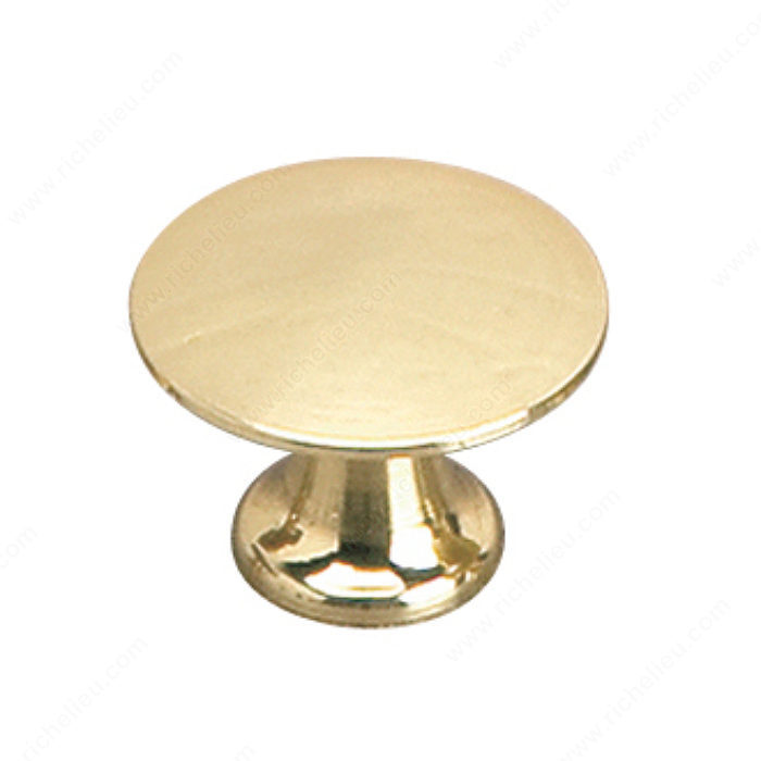 Richelieu Hardware 2445925130 Povera Collection Solid Brass Knob - 2445 in Brass