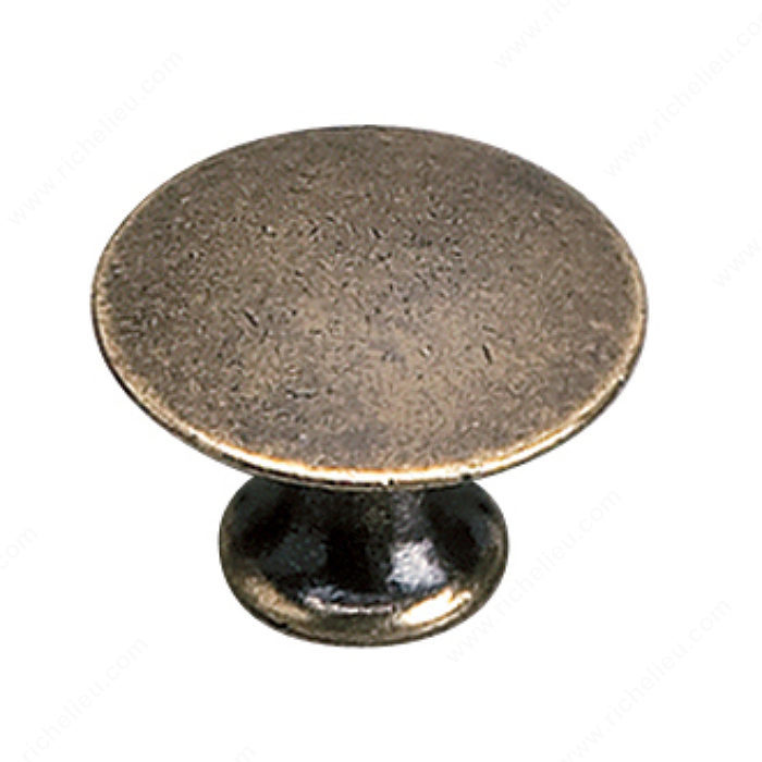 Richelieu Hardware 2445925BB Povera Collection Solid Brass Knob - 2445 in Burnished Brass