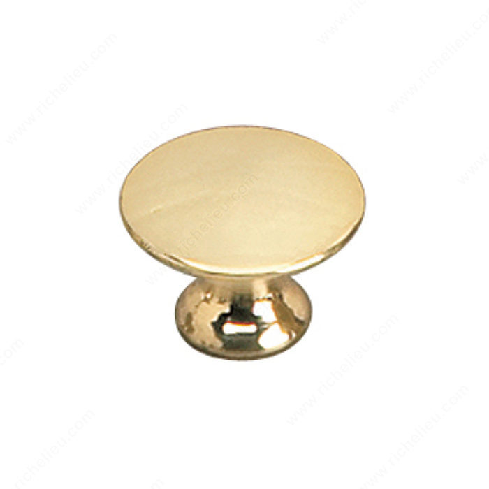Richelieu Hardware 2445920130 Povera Collection Solid Brass Knob - 2445 in Brass