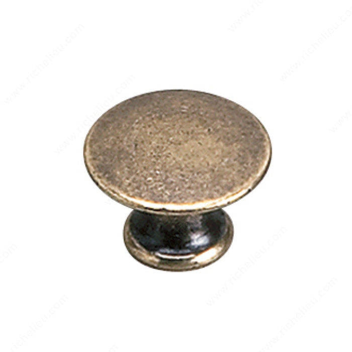 Richelieu Hardware 2445920BB Povera Collection Solid Brass Knob - 2445 in Burnished Brass