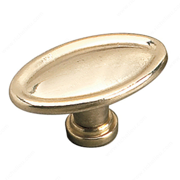 Richelieu Hardware 24463130 Povera Collection Solid Brass Knob - 2446 in Brass