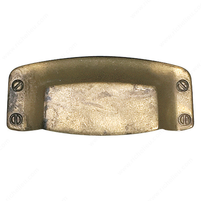 Richelieu Hardware 1512188163 Povera Collection Brass Pull - 151 in Oxidized Brass