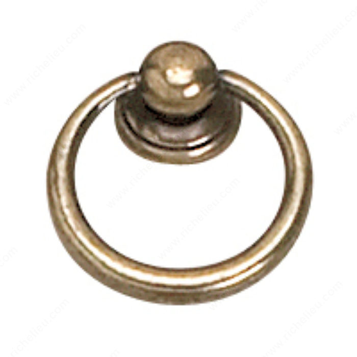 Richelieu Hardware 920233BB Povera Collection Brass Ring Pull - 920 in Burnished Brass