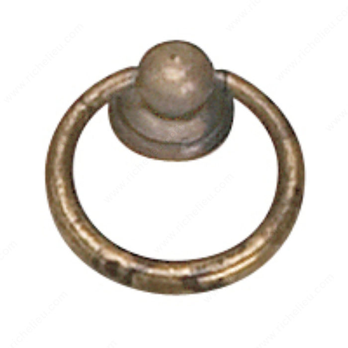 Richelieu Hardware 920233163 Povera Collection Brass Ring Pull - 920 in Oxidized Brass