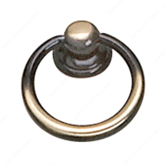Richelieu Hardware 920233164 Povera Collection Brass Ring Pull - 920 in Satin Bronze