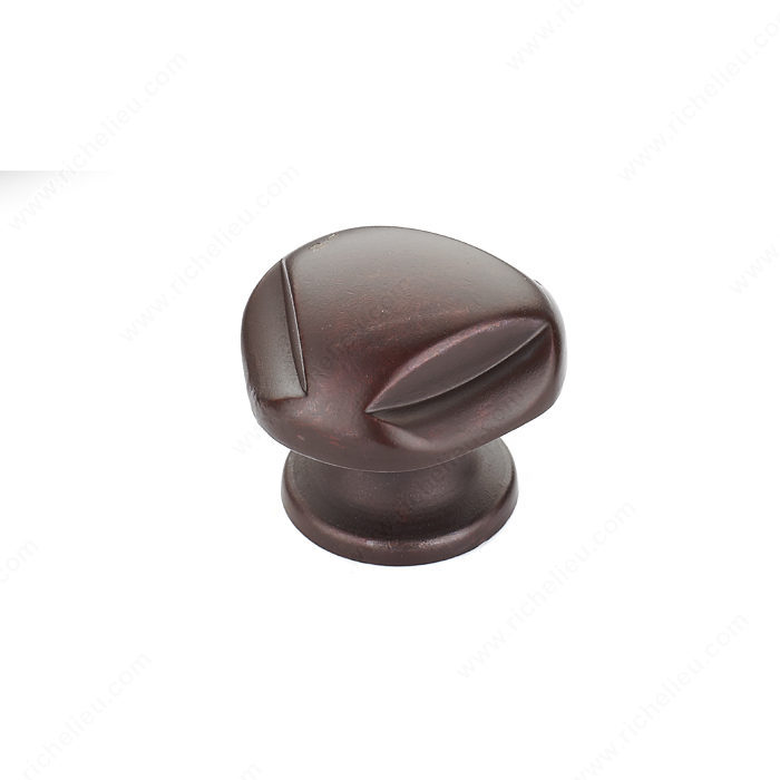 Richelieu Hardware BP2391528801 Classic Metal Knob - 23915 in Hammered Rust