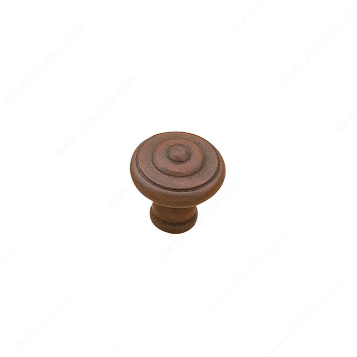 Richelieu Hardware 5120425802 Traditional Metal Knob - 51204 in Antique Rust