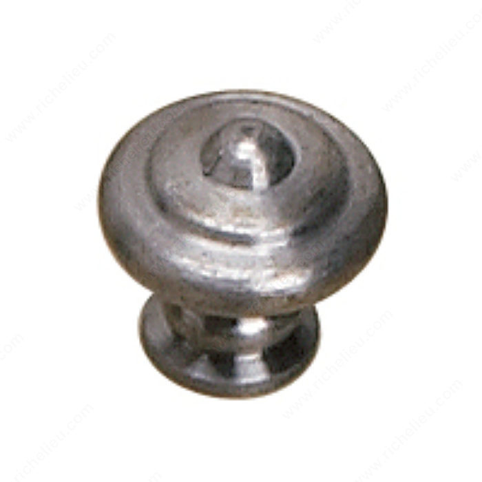 Richelieu Hardware BP882425142 Traditional Metal Knob - 882 in Pewter