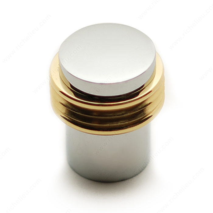 Richelieu BP1085140130 Contemporary Metal Knob - 1085 - Brass / Chrome
