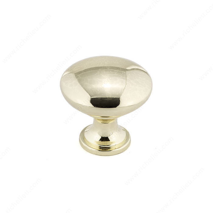 Richelieu Hardware BP9041130 Contemporary Metal Knob - 9041 in Brass