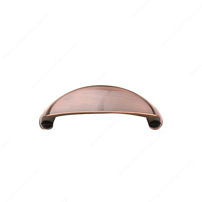 Richelieu Hardware Bp239164194 Classic Metal Cup Pull 64MM Antique Copper Finish