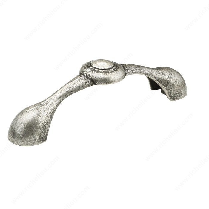 Richelieu Hardware BP60996139 Art Deco Collection Metal Handle Pull - 609 in Old Silver
